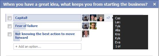 Question on Facebook regarding why Daniel Herr's Friend don't start businesses