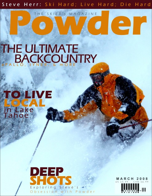 Steve Herr in fake Powder Magazine