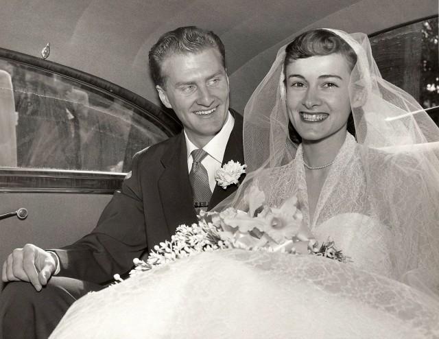 Grandma and Grandpa Foster on their Wedding Day