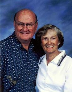 Grandma and Grandpa Foster Portrait
