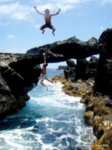 Trevor jumping in Maui
