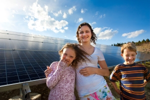 Kids with Solar Photovoltaic System