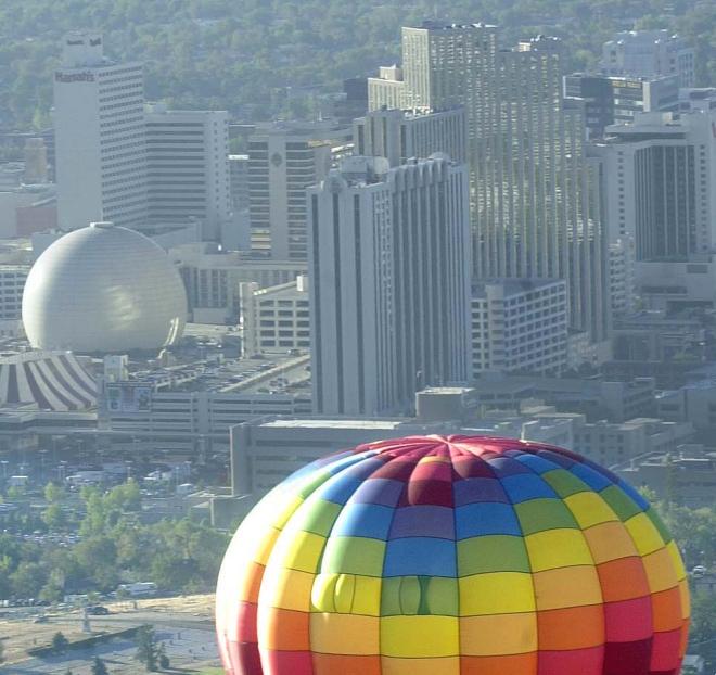 Balloon Downtown Reno Skyline