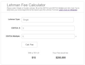 Link to Lehman Fee Calculator by Dan Herr